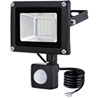 20W Proyector LED con Sensor de Movimiento Floodlight 1600lm Focos LED Exterior para patio Impermeable IP65 3000K Blanco…