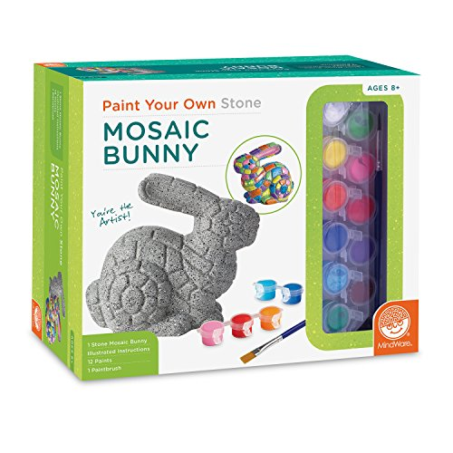 MindWare Paint Your Own Stone: Mosaic Bunny (Kit Craft Garden)