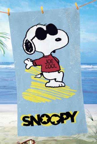 "PEANUTS SNOOPY ""Joe Cool"" SAUNA toalla de playa 75 x 150 cm nuevo"