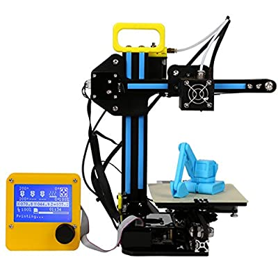GOWE 3D Printer 0.1mm High Precision 130150100mm Mini Portable PLA Consumable LCD On/Off-Line for DIY Education Artistic Design