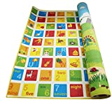 Hape Baby Play Mat for Floor, 70 x 59 Inches | Reversible Thick, Extra Large Foam Playmat Encourages Learning, Non Toxic, Printed, Colorful | Ideal for Tummy Time, for Babies 3 mos +