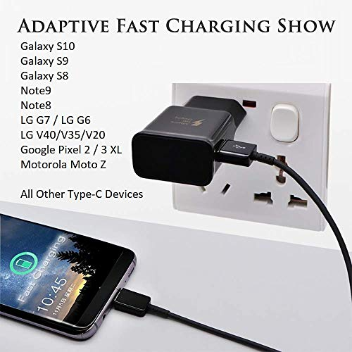 Tradesk Samsung S9 Fast Charger / Note 9 / Galaxy S8 /Note 8