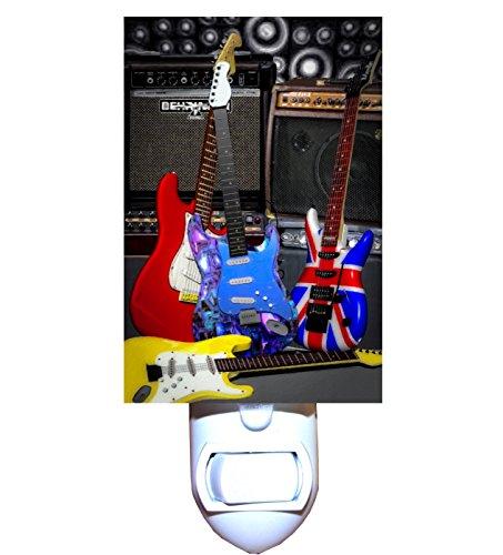 Cool Electric Guitars Decorative Night Light (Laser Cut Switchplates)