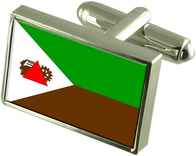 Joao Monlevade City Minas Gerais State Flag Cufflinks Tie Clip Box Gift Set