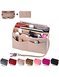 Purse Organizer Insert, Felt Bag organizer with zipper, Handbag & Tote Shaper, Fit LV Speedy, Neverfull, Longchamp, Tote
