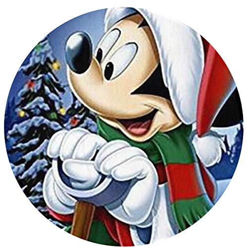 3d Christmas Dining Room Rubber Carpet Soft Area Rug: Mickey Mouse Modern Flannel