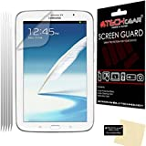 TECHGEAR® **PACK OF 5** CLEAR LCD Screen Protector Guards with Cleaning Cloth For SAMSUNG GALAXY NOTE 8.0 / N5100 / N5110