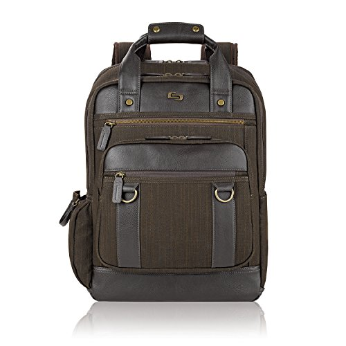 Solo Crosby 15.6 Inch Backpack with Padded Compartment, Brown