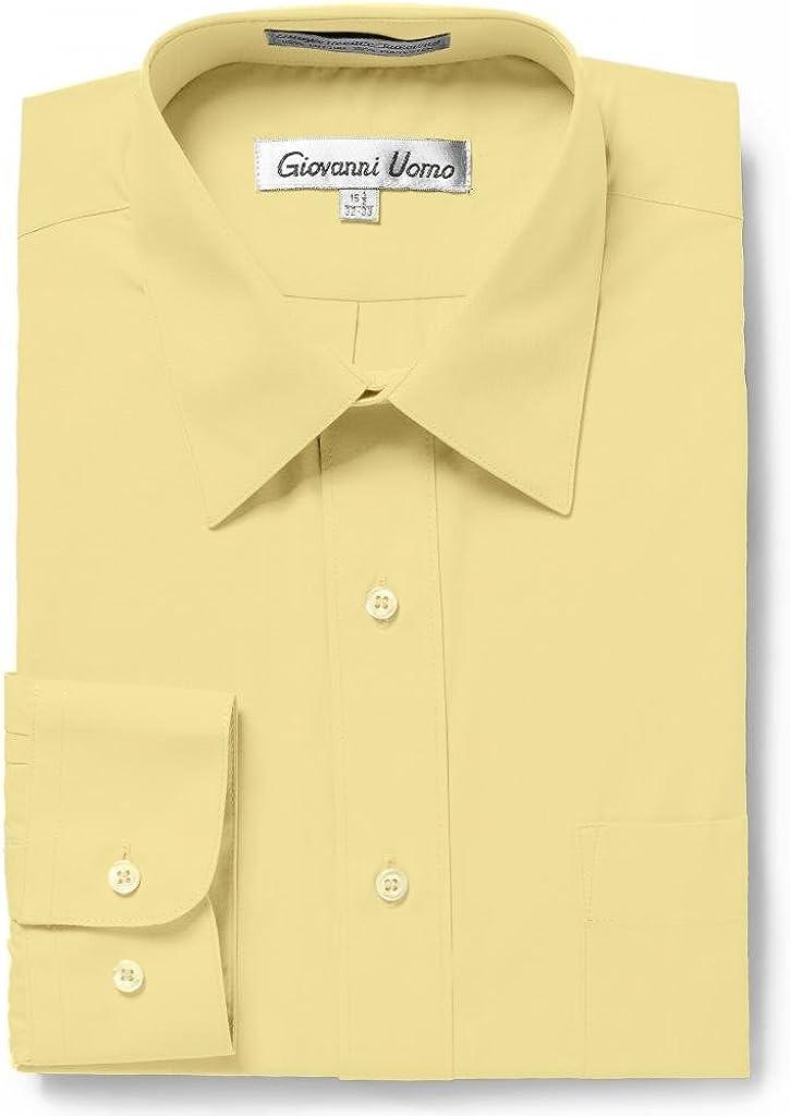 GIOVANNI UOMO Camisa de Vestir de Color sólido para Hombre, Ajuste ...