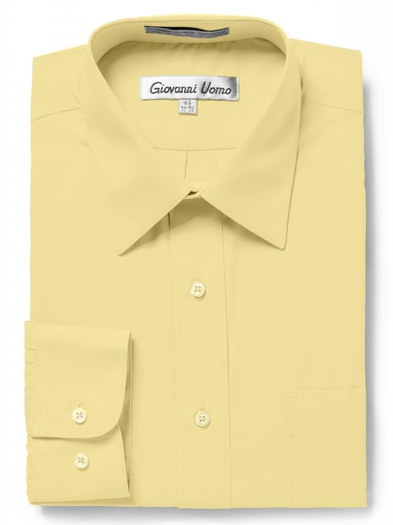 "Giovanni UomoメンズTraditional Fitソリッドカラードレスシャツ B0128NEH0U 18"" Neck - 34/35"" Sleeve|バナナ バナナ 18"" Neck - 34/35"" Sleeve"