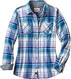 Legendary Whitetails Women's Cottage Escape Long Sleeve Button Up Flannel Shirt (X-Large, Periwinkle Plaid)