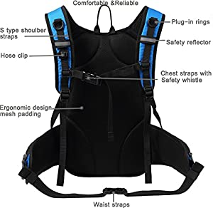 Best Hydration Reservoir: Mubasel Gear Insulated Hydration Backpack with 2L BPA Free Bladder