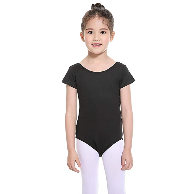 36bc0ef4d Amazon.com  Aaronano Girls Leotard Short Sleeve Toddler Kids ...