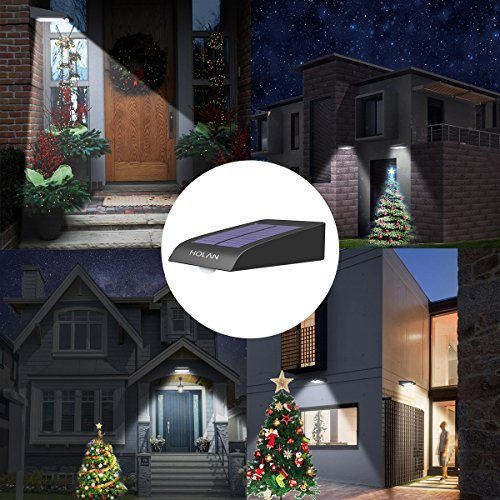 Mulcolor 4 Pack Solar Lights, Brightest 30 LED Solar Motion Sensor Light Outdoor Wireless Waterproof Solar Powered Security Light with Auto On/Off for Garden, Patio and Pathway by Mulcolor (Image #1)