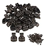 Mxfans 50pcs Antique Corner Protector for Wooden Jewelry Box Elephant Foot Type