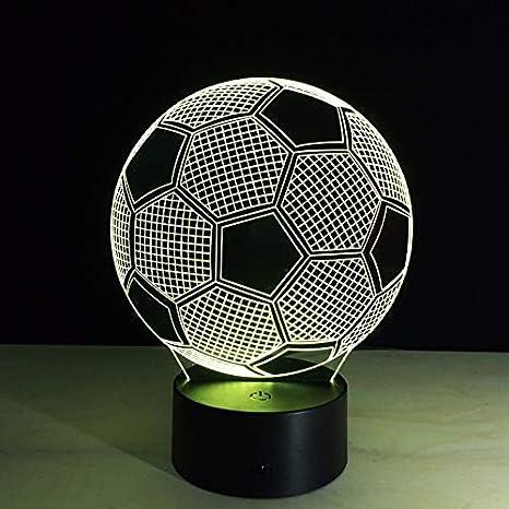 Fussball 3d Usb Batterie Led Nachtlicht 7 Farben Veranderbare