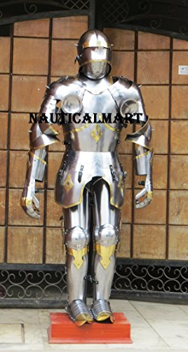 Medieval Knight Gothic Full Suit of Armor 15th Century Body Armour by NAUTICALMART (Image #6)