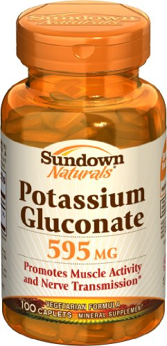 Potassium Gluconate Sundown, 595 mg, 100 Capsules (pack de 6)