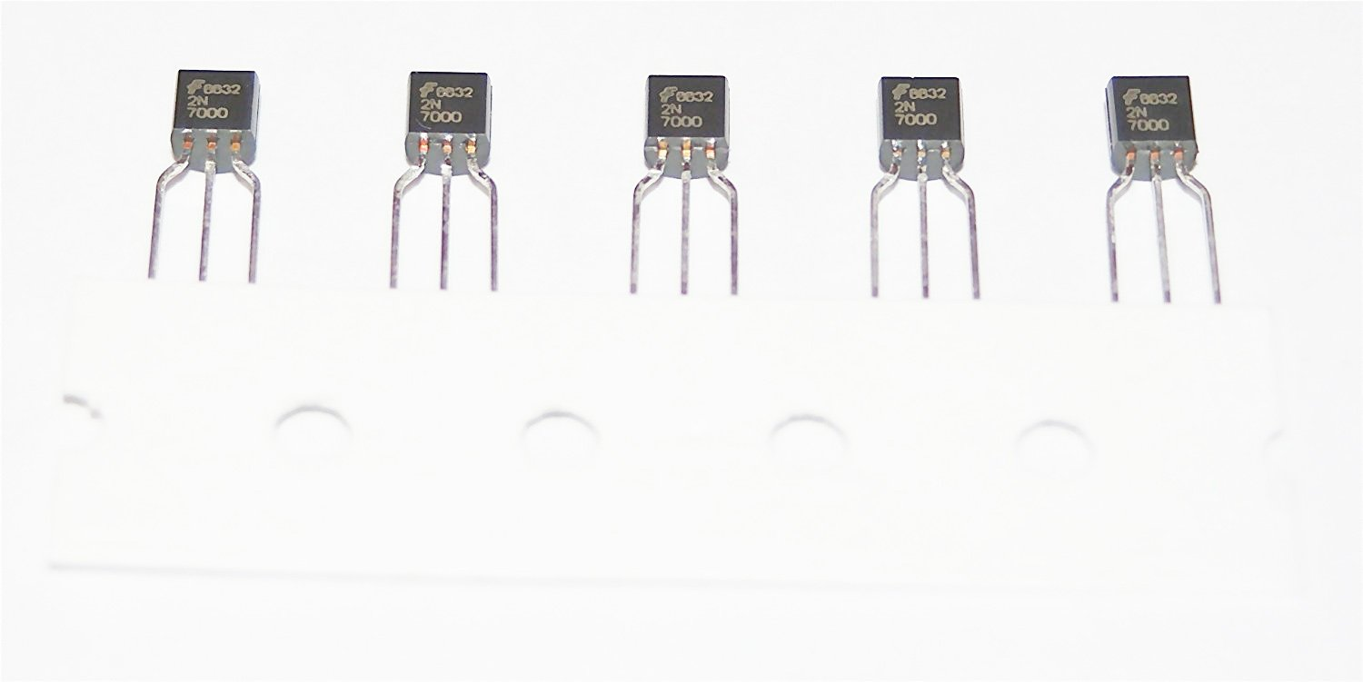 Field Effect Transistor TO-92 Package 2N7000 N Channel Mosfet Pack 10