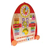 MagiDeal Wooden Calendar Board Teaching Clock for Children Kids Early Learning Toy