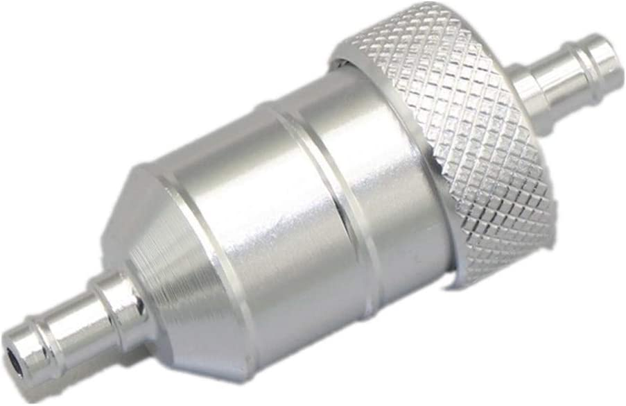 Amyli Universal 1//4 6mm Inline Gas Fuel Filter for Motorcycle Dirt Bike ATV Pit Dirt Bike Silver