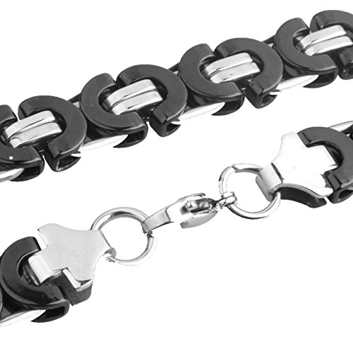 Innovative jewelry Heavy 15mm Silver Tone Curb Link Chain Cool Mens Stainless Steel Necklace Or Bracelet,7-40