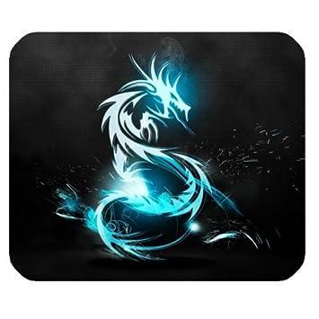 amazon co jp mousepad unique design mouse pad cool blue dragon