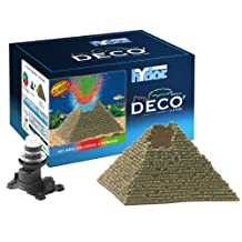 Hydor Deco Classic Collection Ancient Ruins Aquarium Ornament Kit, Pyramid