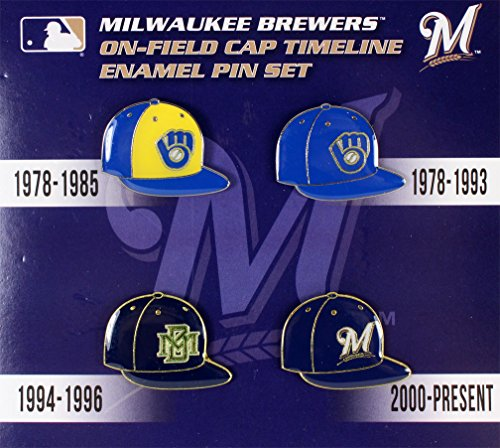 (aminco Milwaukee Brewers Cap Timeline Pin Set)