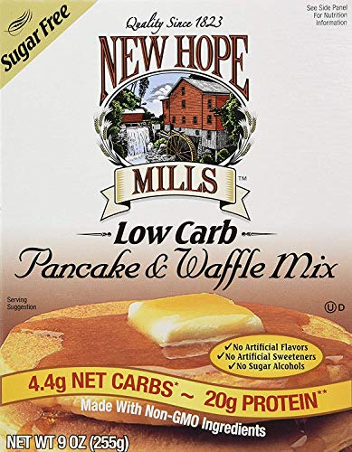 New Hope Mills - New Hope Mills Sugar Free Pancake & Waffle Mix (9 Ounces) - 2 Pack