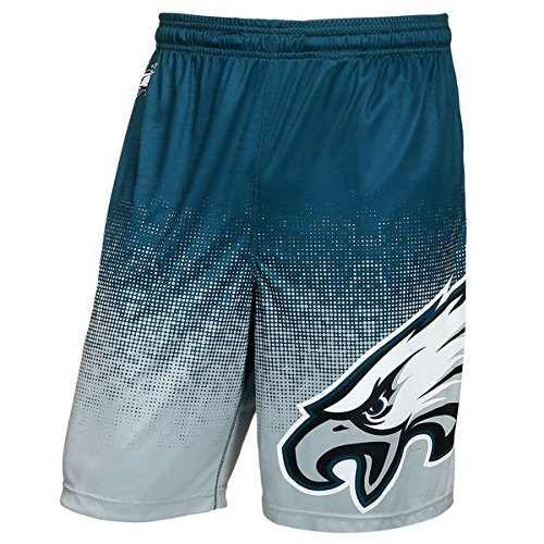 Philadelphia Eagles Shorts - FOCO NFL Philadelphia Eagles Football Team Logo Gradient Big Logo Training Shorts, Team Color, Large