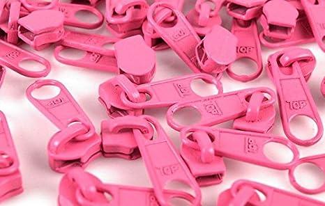 Schnoschi 15 Zipper Pink Passend f/ür endlos Rei/ßverschluss mit 5 mm Laufschiene