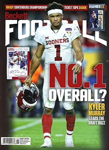 Beckett Football Monthly Price Guide Magazine May 2019 Sooners