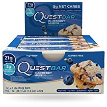 Quest Bar Blueberry Muffin (12 Bars)