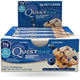 Quest Blueberry Muffin Protein Bar 21 G Protein Fruit Chunks (12)
