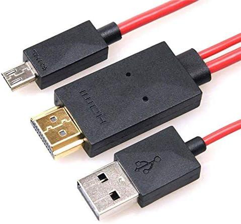 elegantstunning - Cable adaptador de micro USB a HDMI 1080P HD TV para móviles Android (11 pines) rojo: Amazon.es: Hogar