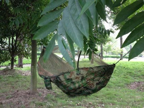 Hammock w/ Bug Mosquito Net Outdoor Camping Backpacking Camo Military Jungle, Outdoor Stuffs