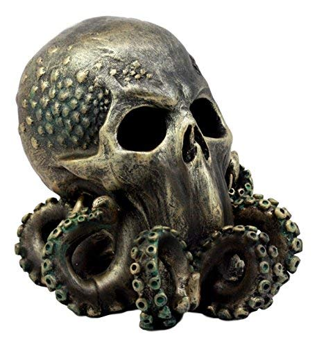 Ebros Ocean Monster Terror Kraken Cthulhu Skull Figurine 6quot H Mythical Sea Relic Giant Octopus Skull Statue