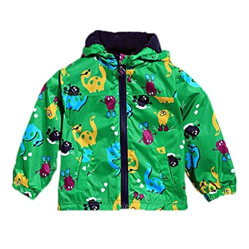 Arshiner Baby Boys' Lightweight Pocket Raincoat