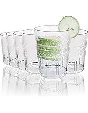 Plastglasögon, 6 st 365 ml återanvändbara klara plastvattenmuggar stapelbara akrylglas spricka akrylglas glas dricksglas för barn akryl drinkglas för vuxna
