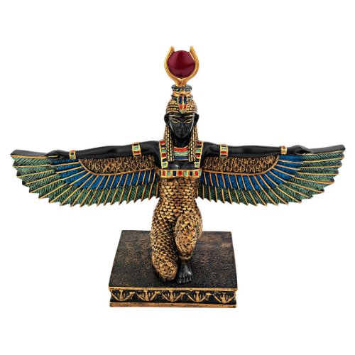 Design Toscano Isis Goddess of Beauty Egyptian Decor Statue, 9 Inch, Full Color (Statue African Fertility)