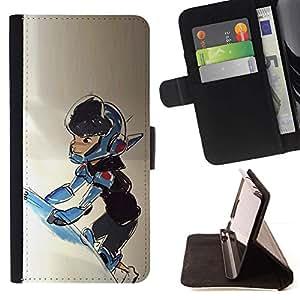 Momo Phone Case / Flip Funda de Cuero Case Cover - Niño Traje espacial Nave Universo Cosmos Arte - Sony Xperia Style T3