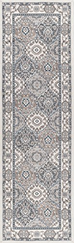 Newcomb Traditional Oriental Cream Runner Rug, 2' x 7'