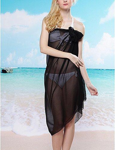 skt-swimwear Damen Halfter zudecken, solide Polyester schwarz