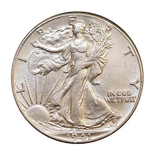 - 1941 P Walking Liberty Half Dollar - Choice BU/MS/UNC