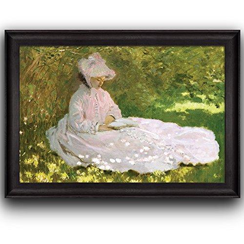 Springtime by Claude Monet (No Signature) Framed Art