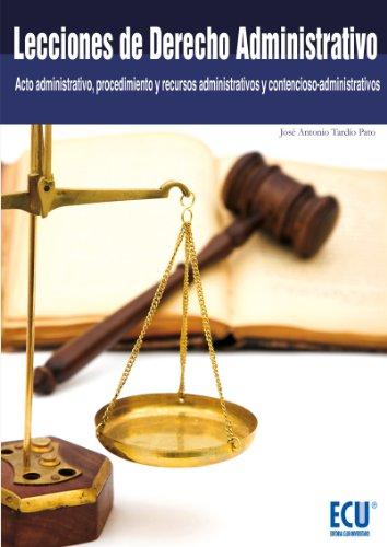 Descargar Libro Lecciones De Derecho Administrativo José Antonio Tardío Pato