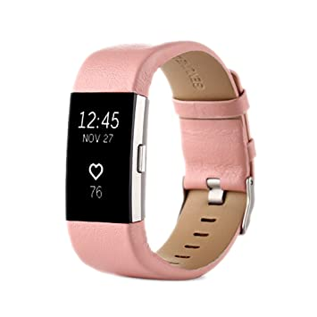 XIHAMA Correa para Fitbit Charge 2, Recambio Pulsera Charge 2 de Cuero Bracelet Correa Recambio Bracelet Compatible con Fitbit Charge 2