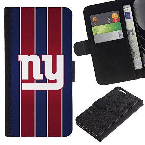 Funny Phone Case // Cuir Portefeuille Housse de protection Étui Leather Wallet Protective Case pour Apple Iphone 6 PLUS 5.5 /New York/