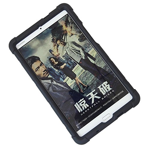MingShore for Huawei MediaPad M3 8.4 Inch Tablet Cover with Born handstrap Fit to Model BTV-DL09A/B/G BTV-W09 [Not For Huawei M3 Lite 8.0 Inch Tablet Model CPN-W09 Or CPN-L09] Silicone Rugged Case (Huawei Mediapad Case)
